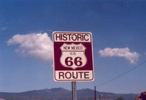 Panneau Route 66 au Nouveau-Mexique