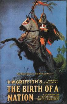 "Affiche du film ""Birth of a Nation"" de D.W. Griffith"