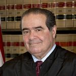 Portrait d'Antonin Scalia à la Cour suprême en 2013