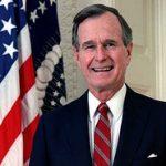 Portrait officiel de George Bush père en tant que Président