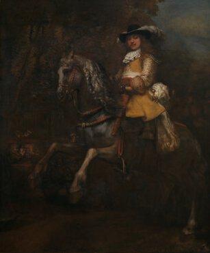 """""""Portrait de Frederick Rihel à cheval"""", Rembrandt, v.1663"""
