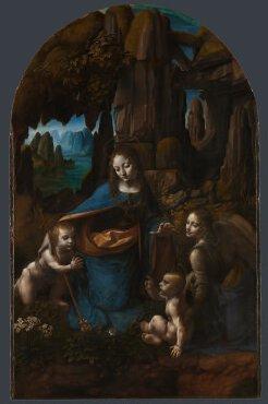 """""""La Vierge aux Rochers"""", Léonard de Vinci, entre 1491 et 1508"""
