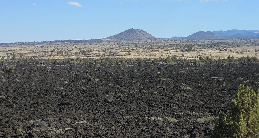 Lava Beds National Monument, part of Medicine Lake Volcano in Northern California, USA