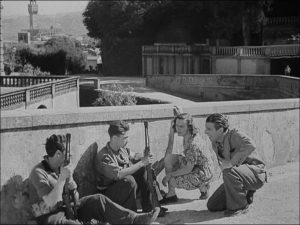 Paisà - Les partisans sur un pont à Florence