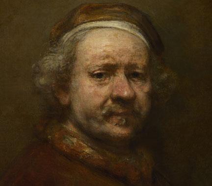 """Autoportrait à l'âge de 63 ans"""", Rembrandt 1669"""