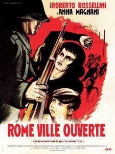 "Affiche du film ""Rome Ville Ouverte"" de Roberto Rossellini"