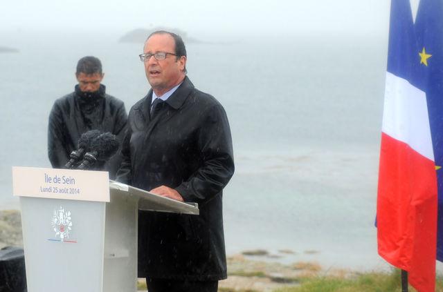Hollande à l'île de Sein