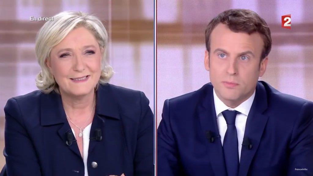 Le Pen et Macron lors du débat de l'entre-deux-tours