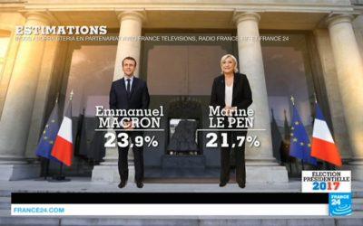 23 avril – Premier tour 2017 : Macron et Le Pen en tête